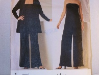 4b8638fe0a 1997 Vogue Paris Original pattern #2060 featuring designer Claude Montana  to make a jacket and jumpsuit. Very chic!Size 18-20-22 (bust 40-42-44